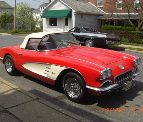 Chevrolet corvette convertible 1959 ( France dpt 34)
