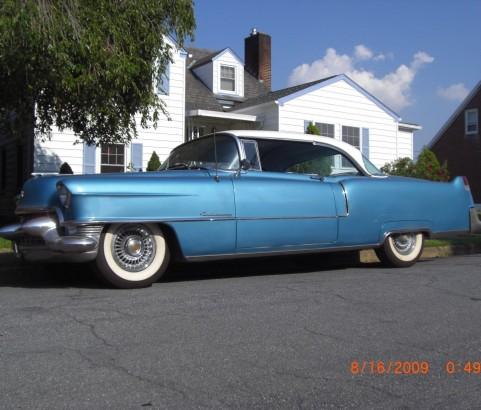 Cadillac coupe de ville 1955 ( France dpt 78)