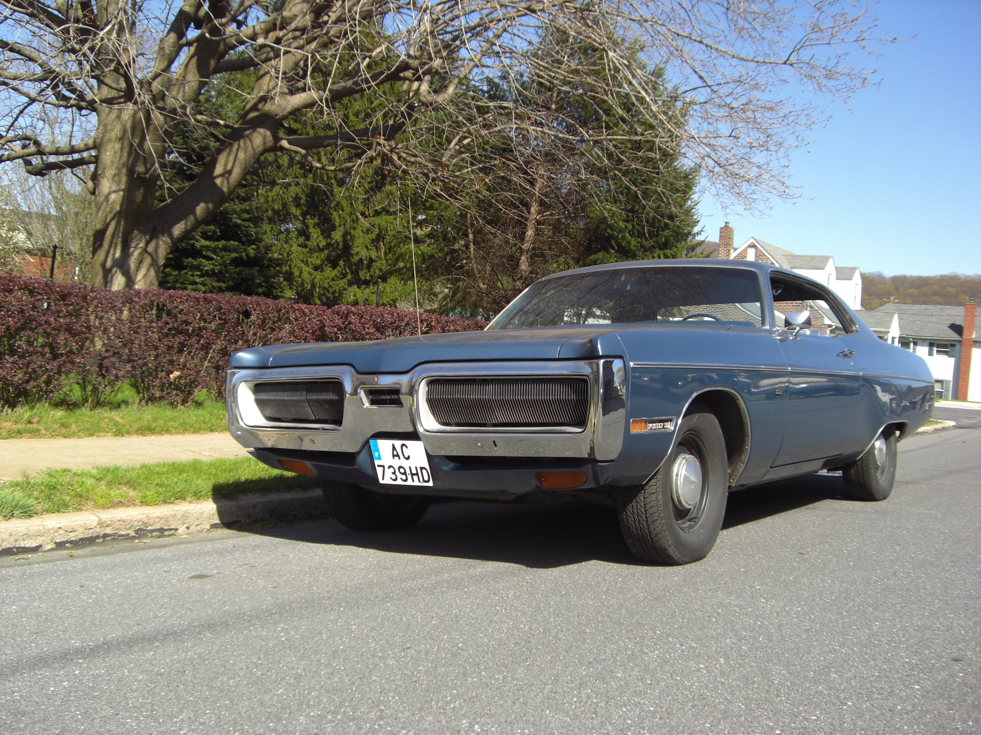 Plymouth Fury 3 Coupe 1972 Cop Car American Cars And