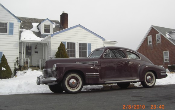 Cadillac 61 coupe 1941 ( Turin, Italie)