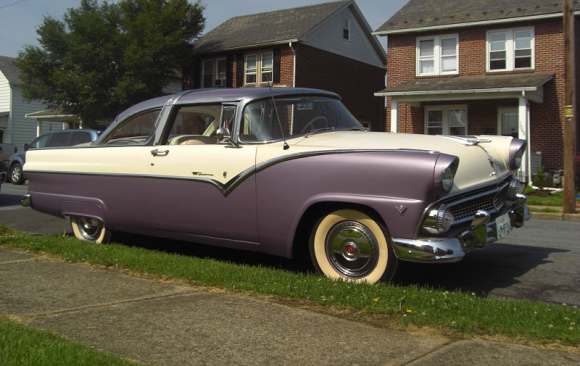 Ford Fairlaine coupe 1955 ( France dpt 60)