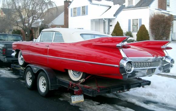 Cadillac serie 62 convertible 1959 ( France dpt 02)
